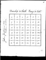 1847 Sectional Survey Map of Township 30, Range 21E
