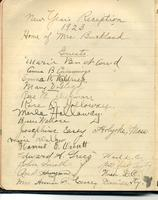 1923 New Years Eve Reception Book